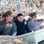 North Korean leader Kim Jong-Un visits the Wolnae Islet Defence Detachment in the western sector of the front line, near Baengnyeong Island of South Korea