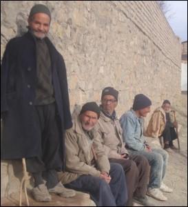 روستای فیض آباد، یکی از روستاهای خلج استان مرکزی، زمستان 1391