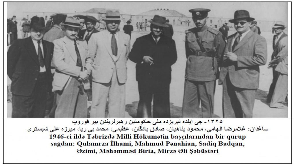 اعضای کابینه حکومت ملی آذربایجان