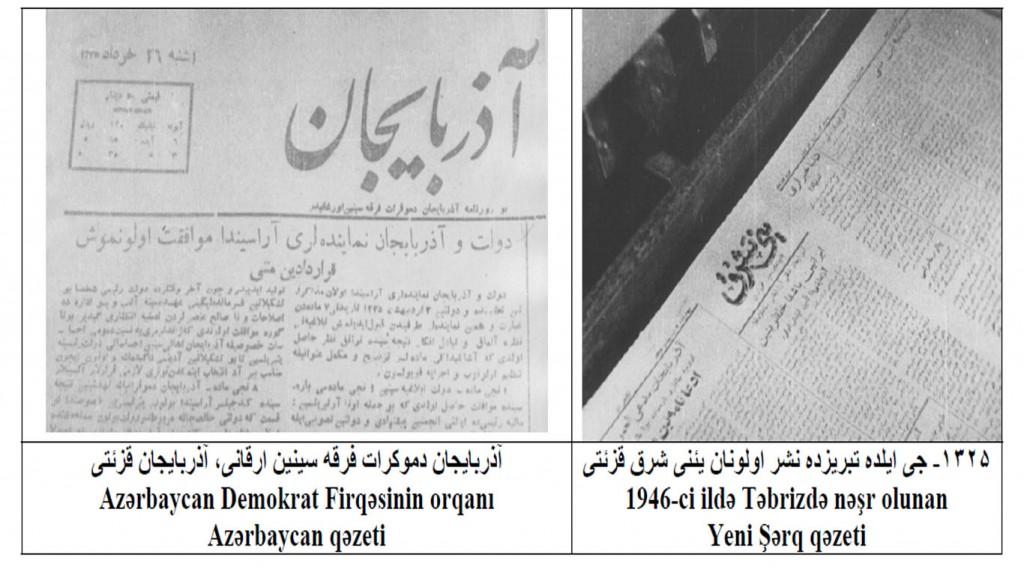 مطبوعات حکومت ملی آدربایجان