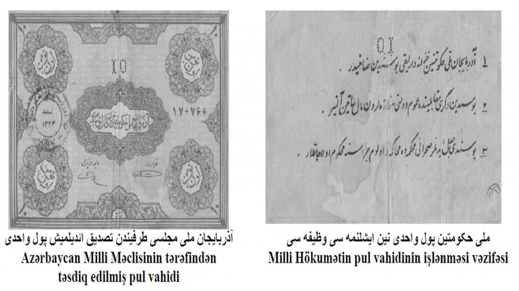 پول ملی حکومت ملی آذربایجان