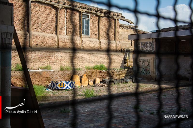 تخریب و تاراج کتیبه های تاریخی مسجد حسن پادشاه در قلب تبریز